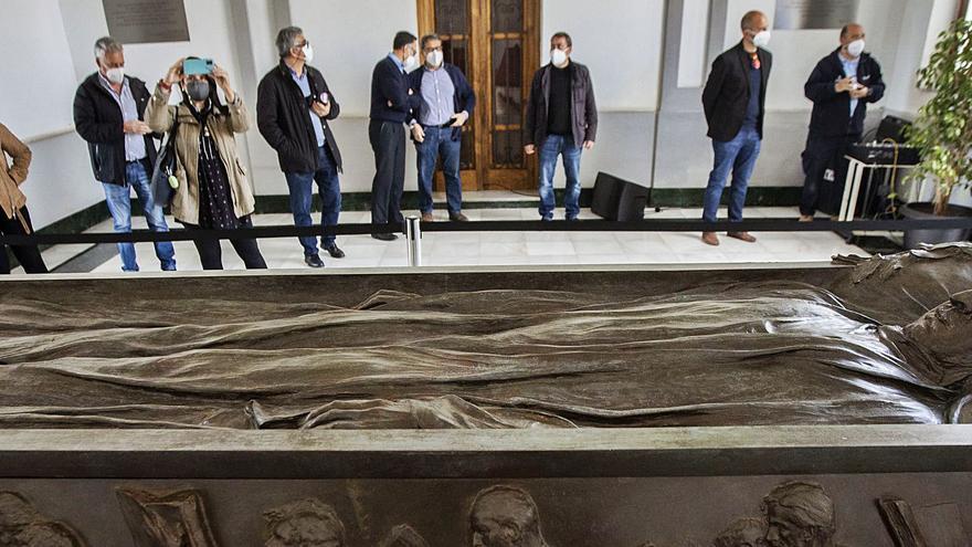 Elogios a la república en la presentación del sarcófago de Blasco Ibáñez