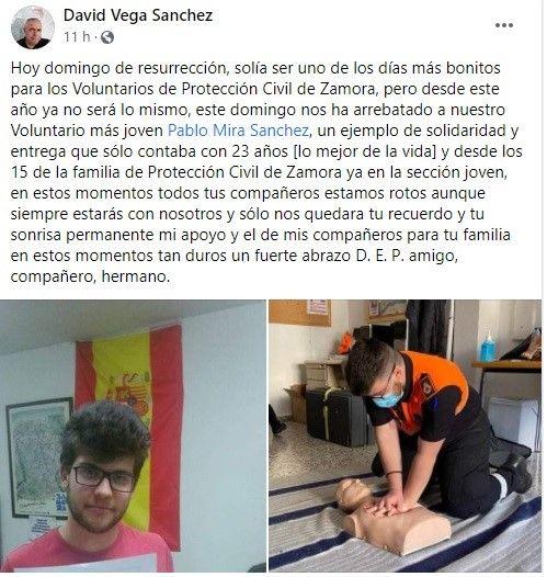 Condolencias desde Protección Civil Zamora
