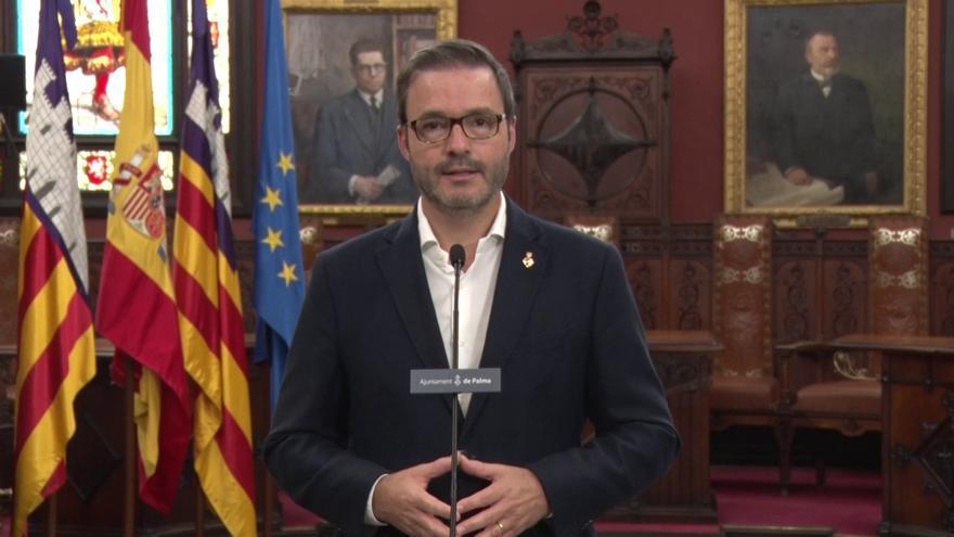 """El alcalde de Palma agradece el """"esfuerzo y la responsabilidad"""" de los ciudadanos durante la pandemia de coronavirus"""