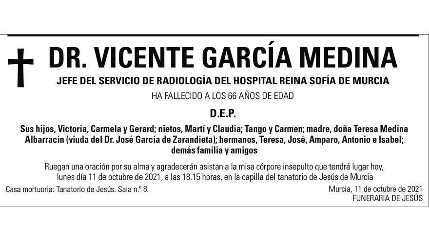 Dr. Vicente García Medina