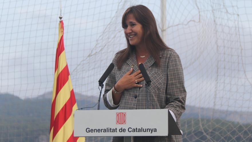 Borràs celebra la primera «Diada sense presos polítics» però recorda que encara hi ha «exiliats i represaliats»