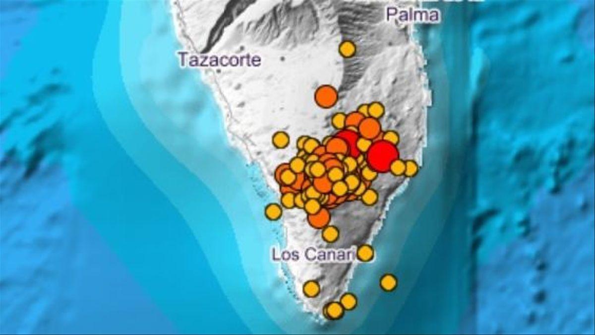 Terremotos registrados esta noche en La Palma. | @IGN_Sismologia