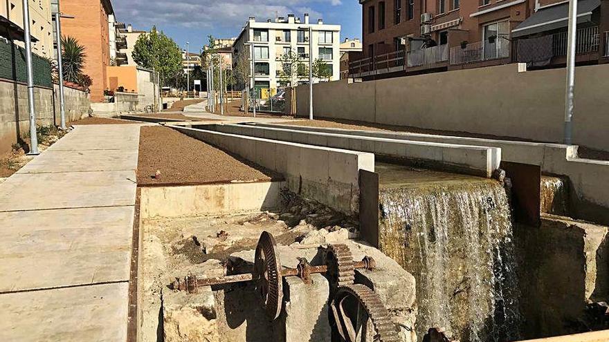L'Ajuntament de Banyoles finalitza la remodelació i recuperació del rec Major
