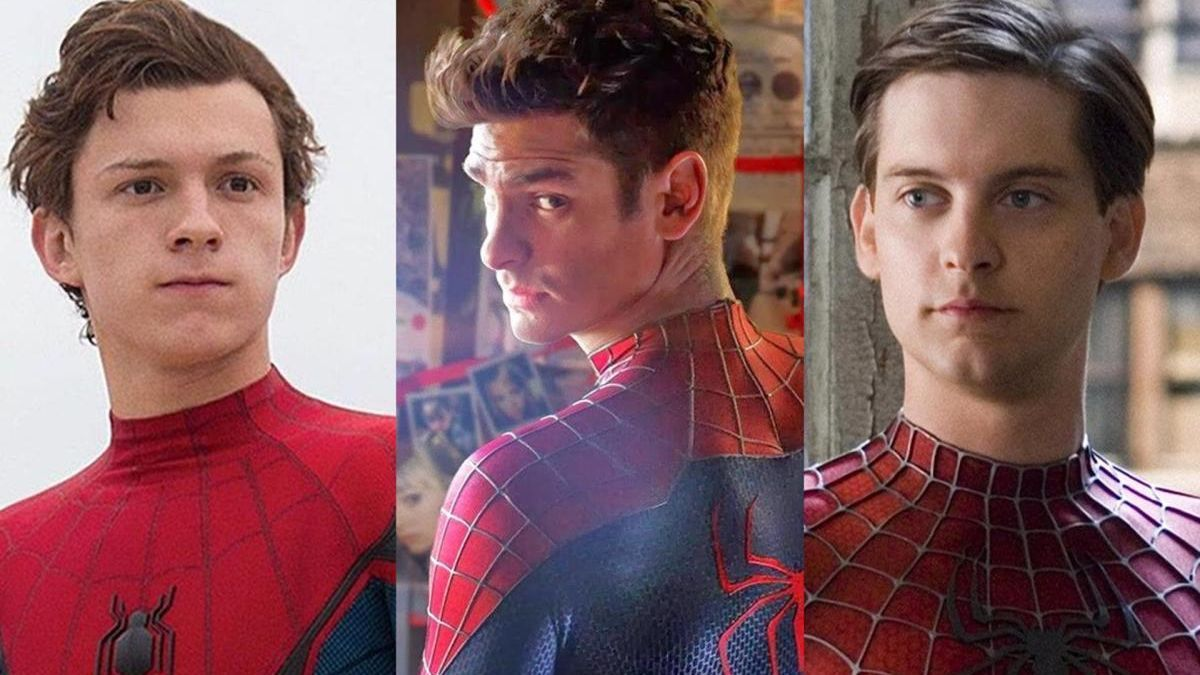 Tom Holland, Andrew Garfield y Tobey Maguire, los Spider-Man del cine.