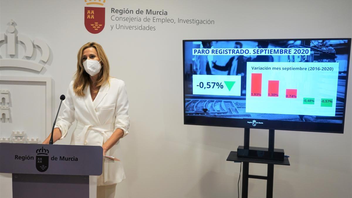Mejor dato del paro en Murcia en un mes de septiembre en los últimos 13 años