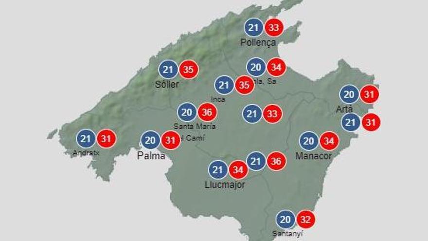 Hitzewarnung: Bis zu 35 Grad auf Mallorca
