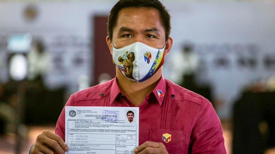 El exboxeador Manny Pacquiao, candidato a presidir Filipinas