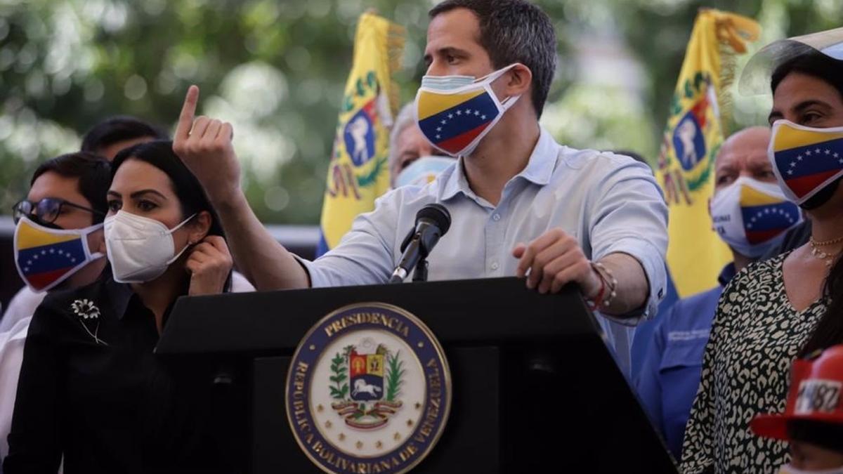 El opositor venezolano Juan Guaidó.