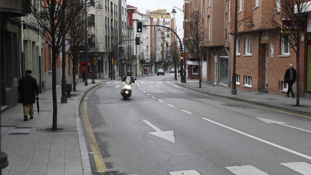 Un tramo de la avenida de Galicia, la calle en la que se produjo el intento de atraco