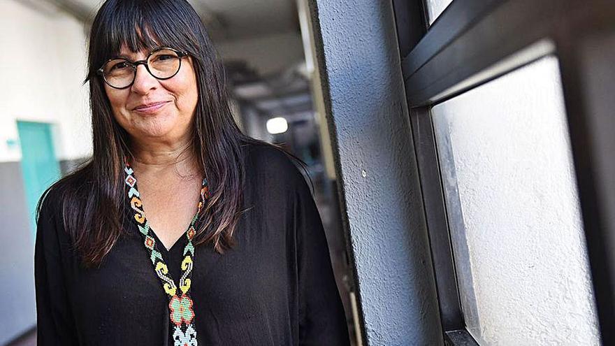 Esther Torrado,  experta en feminismo y violencia sexual, da una charla en Telde