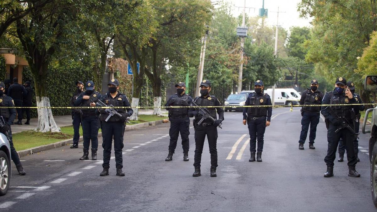 Un grupo de policías mexicanos.