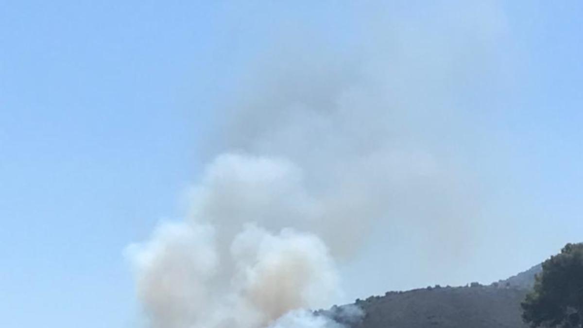 Pla general de la zona de l'incendi afectada a Llançà aquest divendres 16 de juliol de 2021. (Horitzontal)