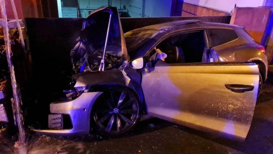Muere un joven de 22 años y tres resultan heridos en accidente en Culleredo