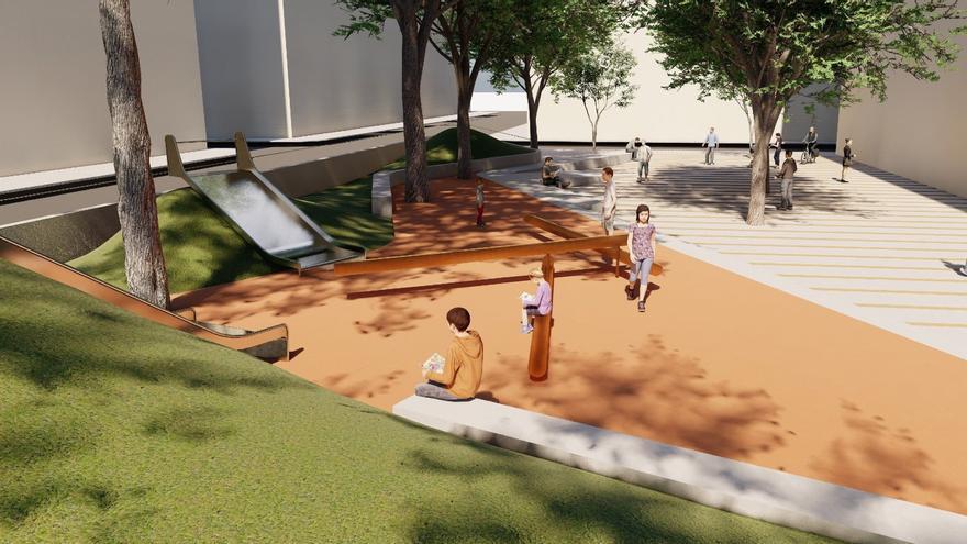 El parque de Nino Bravo será una avenida para peatones con juegos infantiles