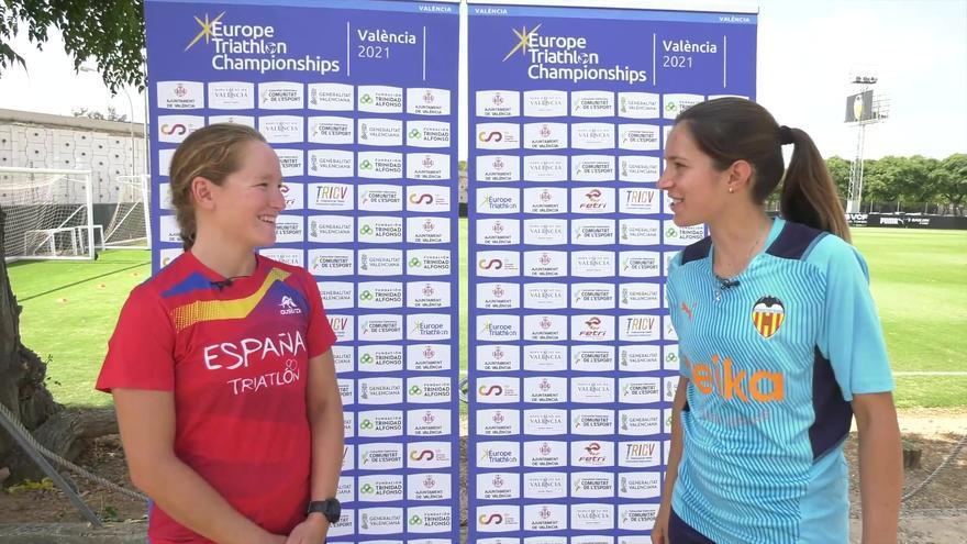 El doble desafío entre el triatlón y el Valencia Femenino
