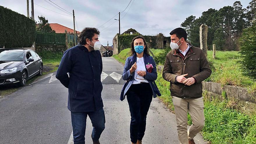 La Diputación mejora la seguridad vial en un tramo de Marín a Penizas