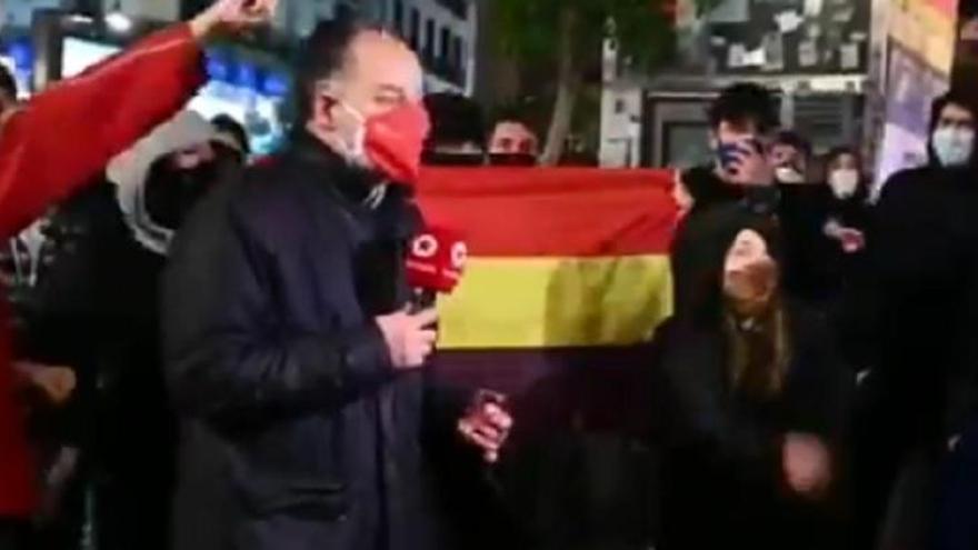 Agreden a un cámara de Telemadrid tras un acto de apoyo al rapero Hasél