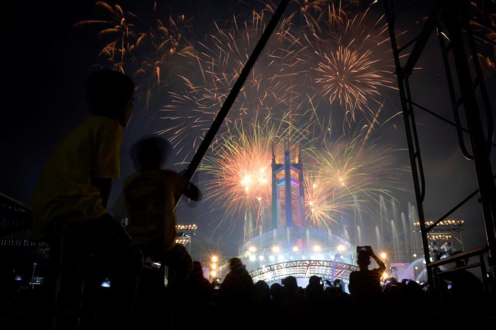 Celebración de Nochevieja de Manila, Filipinas.