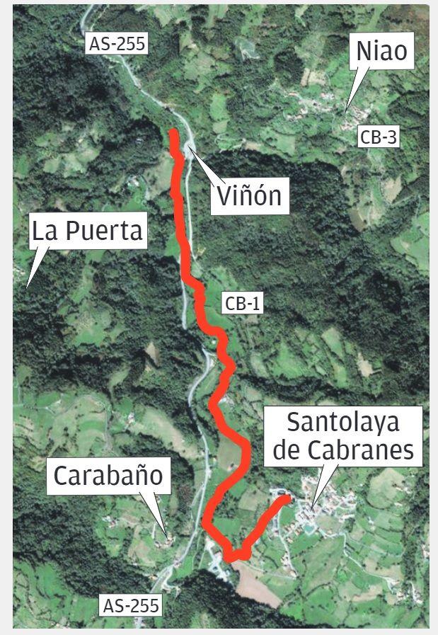 Senda fluvial de Viacaba.