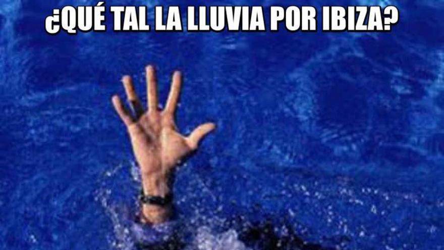 Los memes de la lluvia en Ibiza