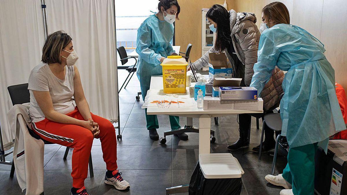 Centro de vacunación del Ramos.
