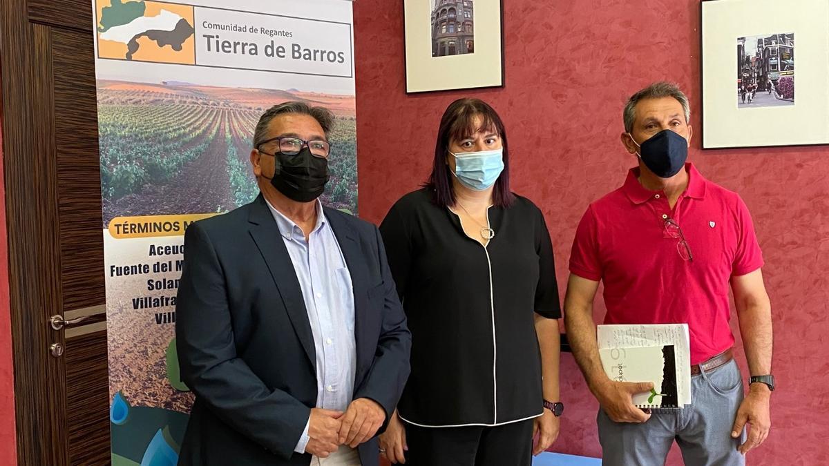 José María Ramírez, Begoña García Bernal y Vicente Guerrero