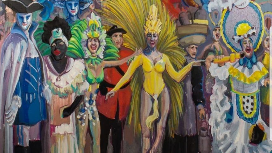 Cartel tradicional para Carnaval digital