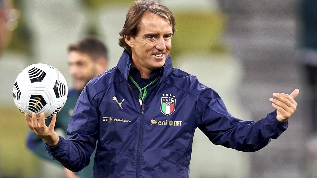 El seleccionador italiano Roberto Mancini.