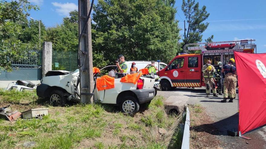 El vehículo accidentado.