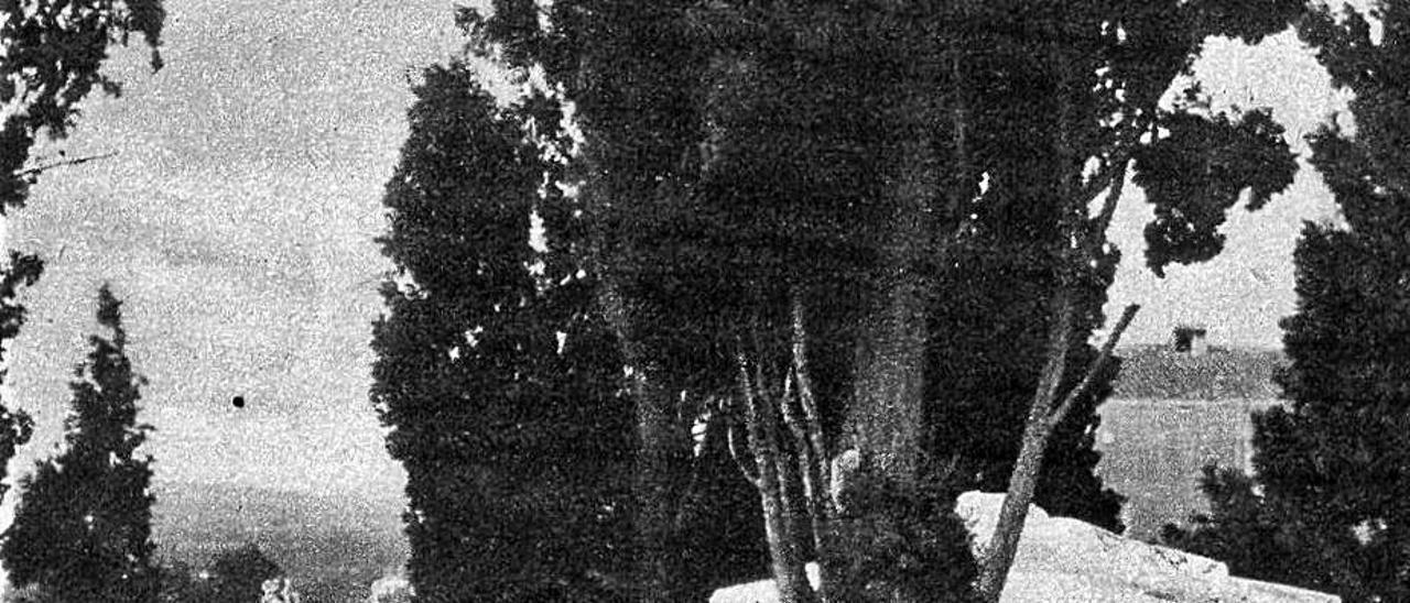 Vista del calvari de Sagunt, princpis segle XX. | C.SHARTHOU