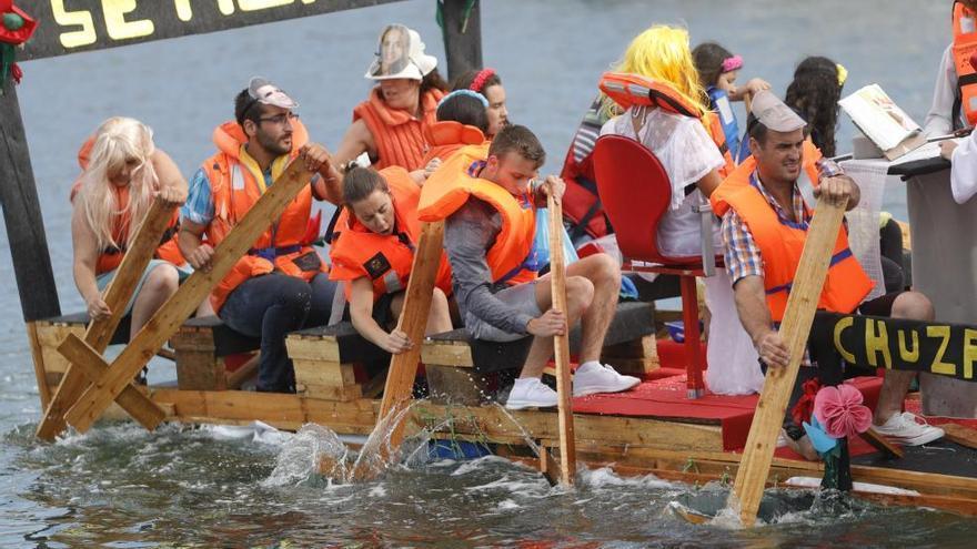 'Flota como poidas 2019', remojones de diversión en el río Miñor