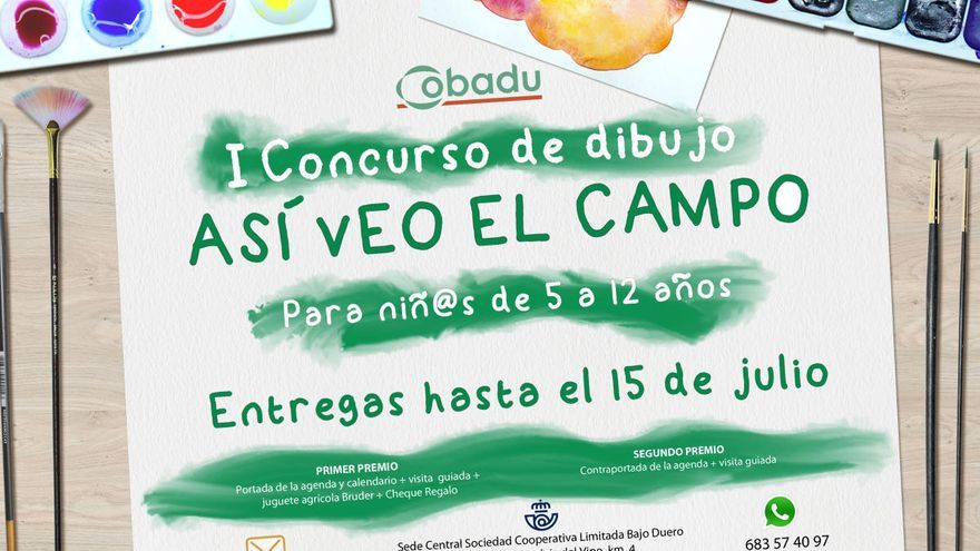 Cobadu pone en marcha el concurso de dibujo infantil 'Así veo el campo'