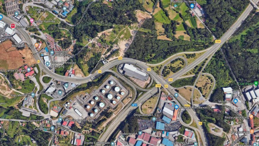 Cinco heridos en un accidente múltiple en Vigo