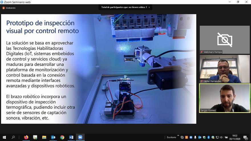 Fempa presenta un prototipo para el mantenimiento de cuadros eléctricos en remoto