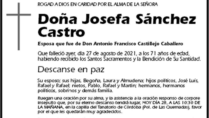 Josefa Sánchez Castro