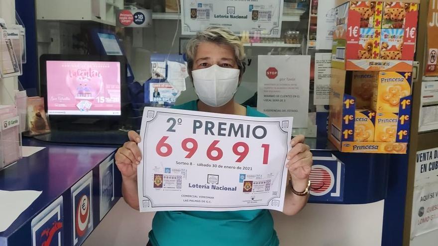 Pellizco del primer premio de la Lotería Nacional para Tenerife