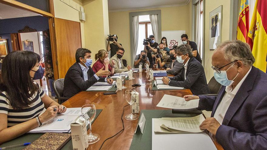 El Consell y la Diputación cierran su comisión sin acuerdos con el Fondo de Cooperación