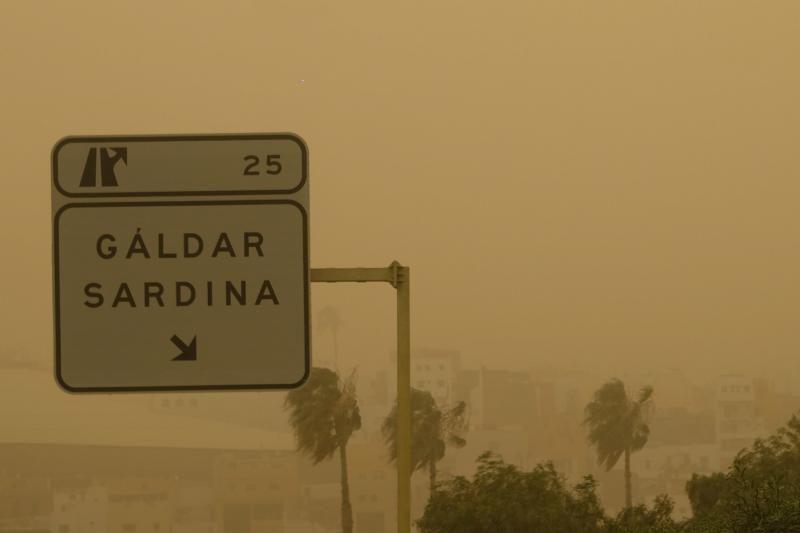 La Aldea - Agaete- Las Palmas de GC:. Incendio Tasarte y calima    23/02/2020   Fotógrafo: José Carlos Guerra