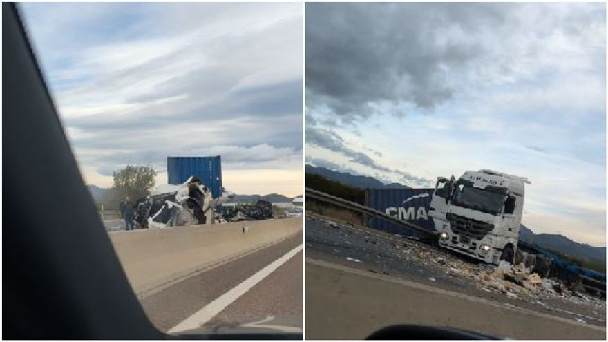 Un accidente en Rafelbunyol provoca retenciones kilométricas en la A-7