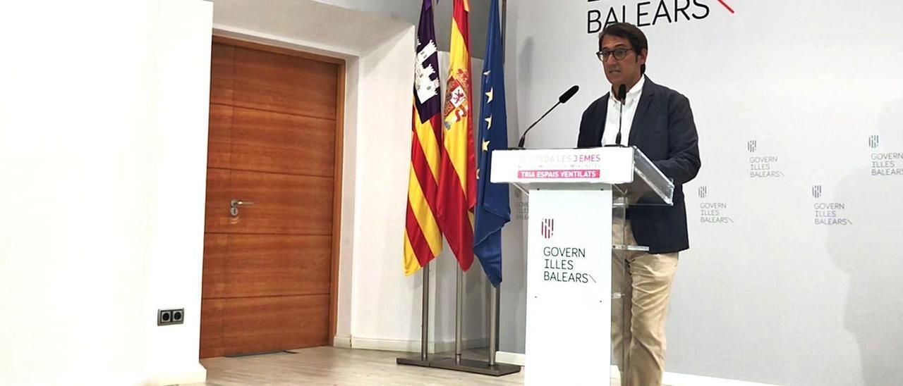 Iago Negueruela, ayer, durante la rueda de prensa posterior al Consell de Govern. | CAIB