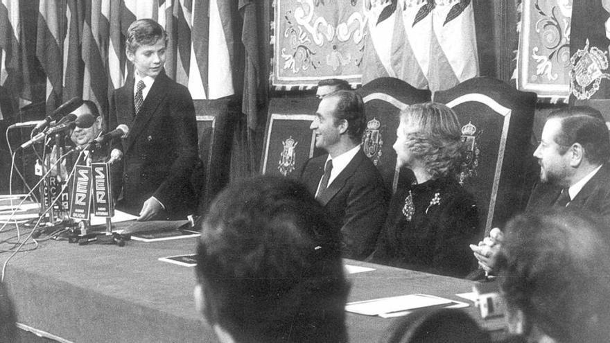 El Rey Felipe VI dio su primer discurso en Asturias hace 36 años