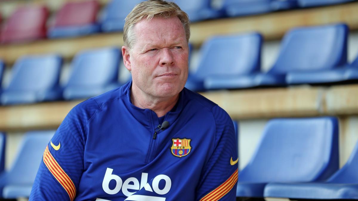 El entrenador del FC Barcelona, Ronald Koeman.