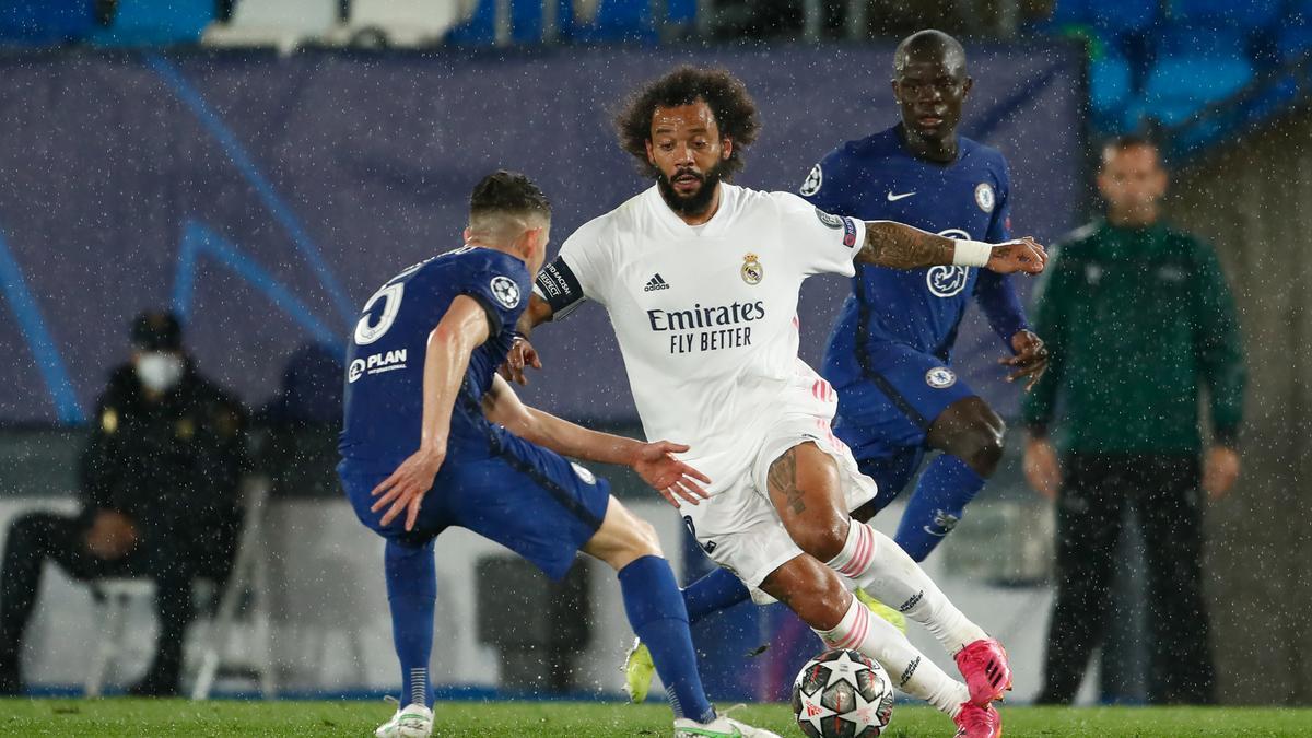Una imagen de Marcelo en el partido de ida ante el Chelsea.