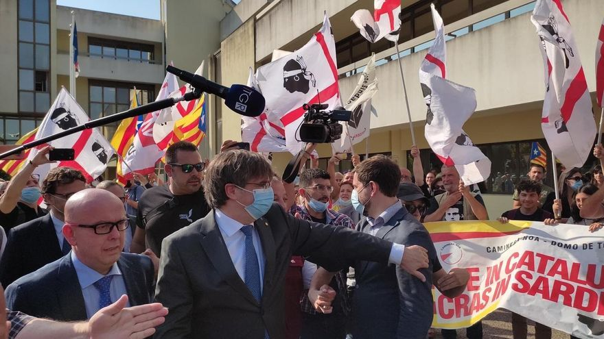 Carles Puigdemont llega al tribunal de Cerdeña