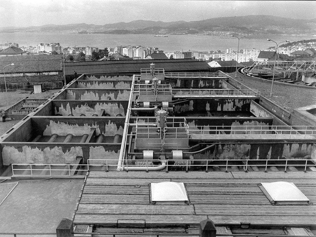 La construcción de la presa de Eiras, un titán de hormigón