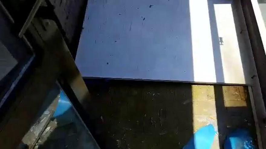 Herida al explotar un cristal durante la mascletà de las Hogueras de Alicante