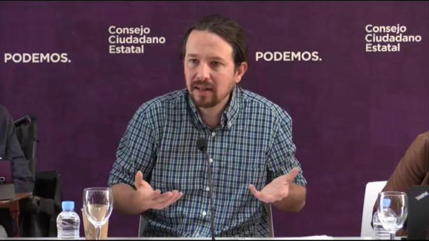 Iglesias apunta a la falta de liderazgos como una de las causas del desplome el 26M