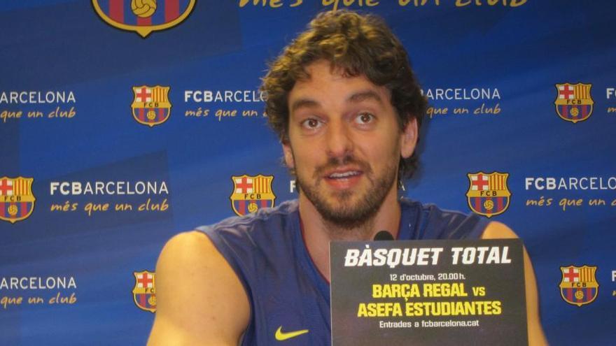 Pau Gasol torna al Barça fins a final de temporada
