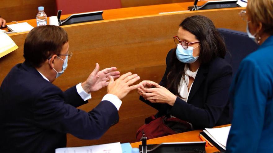 La oposición ve mitinero el discurso de Puig y el Botànic celebra los anuncios