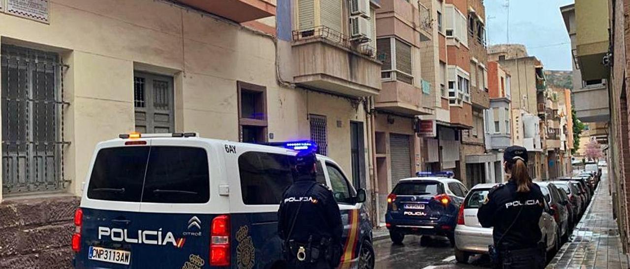 La Policía Nacional en una reciente intervención en Alicante.